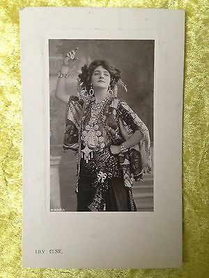 Edwardian Actress LILY ELSIE as THE MERRY WIDOW Real Photograph Postcard 1909