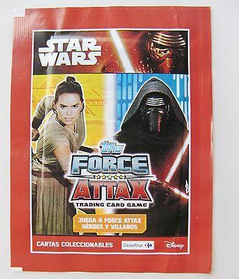 Star Wars Force Attax Trading Card Game Carrefour From Spain Unopened Pack Of 3