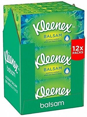 Kleenex Balsam Tissues Balsam Soothing Comfort Cold Hay Fever- Pack Of 12
