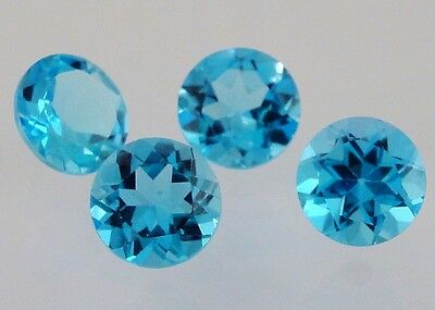 London Blue Topaz Gemstone Round VVS 6mm Loose Natural Gem Best Quality AAA Cut