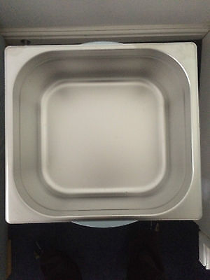 STAINLESS STEEL 2/3 GASTRONORM PAN 150mm DEEP GASTRO TRAY