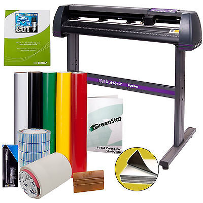 34 Inch Vinyl Cutter BUNDLE Design Cut Software Professional Sign Cutting Maker