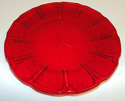 """Jeannette CHERRY BLOSSOM RED *9"""" DINNER PLATE* BEAUTIFUL COLOR*"""