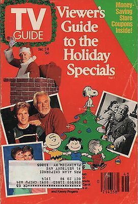1989 TV Guide Viewers Guide to the Holiday Specials Dec 2-8
