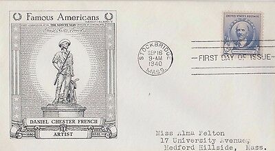 First day of issue, 1940, Daniel Chester French, Scott # 887