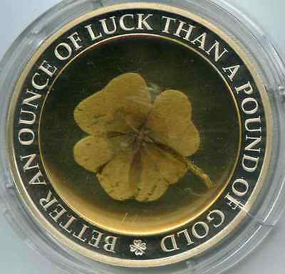 Palau 5 dollars Better ounce of luck than a pound of gold - Argent - tréfle