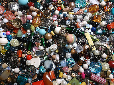 1 Pound of Beads & Jewelry Making Supplies Mixed Lot #4 Various Materials