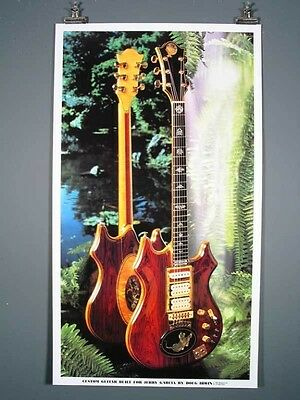 """Jerry Garcia Grateful Dead """"Tiger"""" Guitar RARE poster by Irwin, Just Beautiful !"""