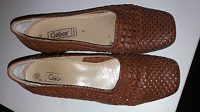 Ladies Gabor Brown Leather Shoes