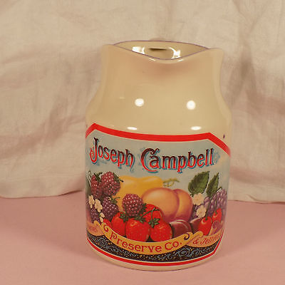 Campbells Water Pitcher Heritage Collection  Fruit Design