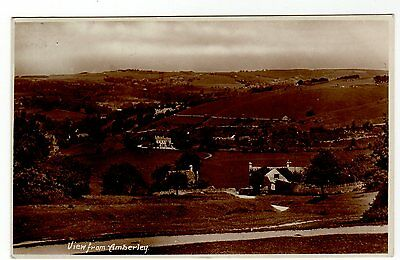 VIEW FROM AMBERLEY ~ A VINTAGE RP POSTCARD (j9)