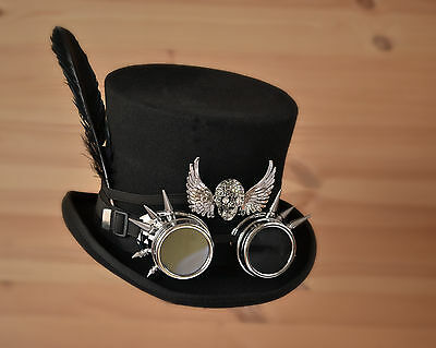 Steampunk Top Hat Size Large Or 59 Cms