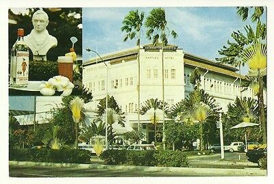 Singapore - a larger format, photographic postcard of the Raffles Hotel