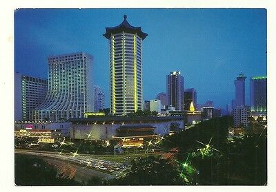 Singapore - larger format, photographic postcard of shopping complex, Orchard Rd