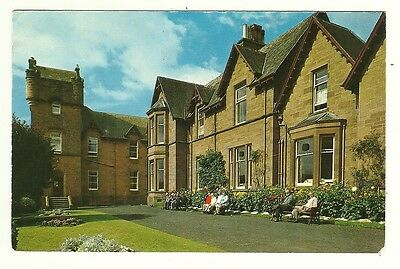Galashiels - a photographic postcard of the House and Grounds, Abbotsview Home.