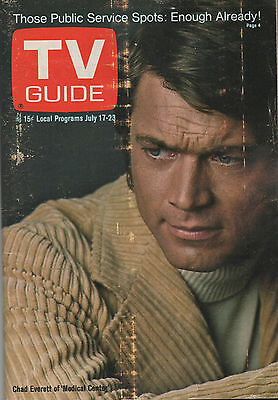 1971 TV GUIDE Chad Everett of 'Medical Center' July 17-23 NO LABEL!