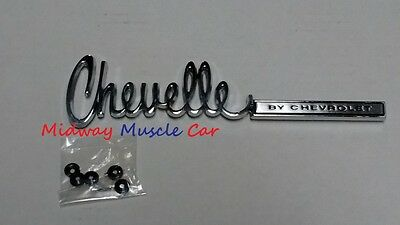 Chevelle by CHEVROLET rear deck trunk lid emblem   71 72 Chevy Chevelle
