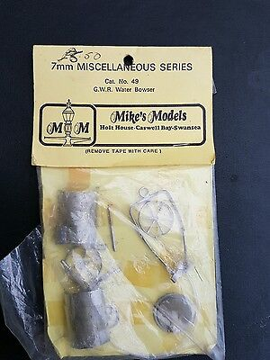 MIKES MODELS GWR WATER BOWSER CAT No 49
