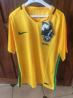 Maillot foot BRESIL jaune 2016 taille S et M