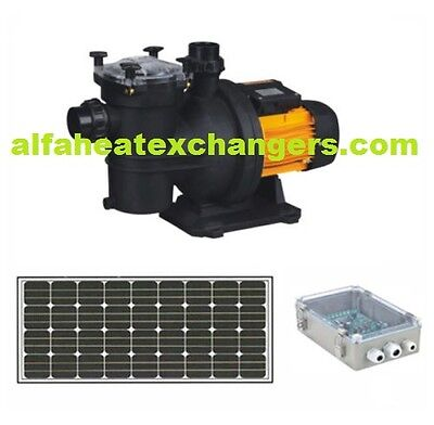 Solar Power Spa Swimming Pool Water DC PUMP & CONTROLLER System 1.5 - 2 HP 1200W