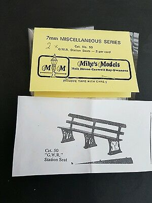 MIKES MODELS GWR STATION SEATS CAT No50