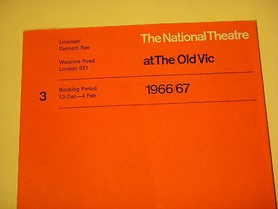 1966/7 National Theatre Schedule + The Royal Hunt of the Sun Programme