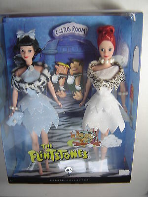 The Flintstones Wilma and Betty Barbie Dolls Silver Label Gift Set Figures 2008