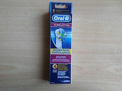 Oral-B Floss Action Electric Toothbrush Replacement Heads - 4 Pack