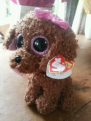 Large Big Eyes Ty Beanie Boo Maddie  NEW with Tags