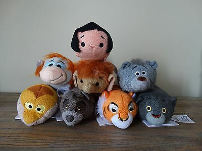 Disney Store  8 Jungle Book Tsum Tsum Bnwt Complete Set Genuine Bnwt