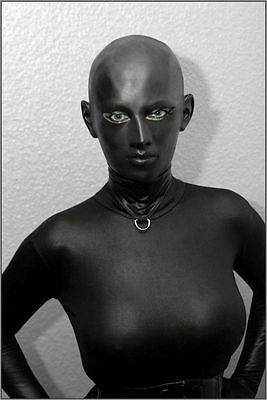 "Latexmaske "" Black Staar narrow eyes "" Mask Maske Rubber Latex"