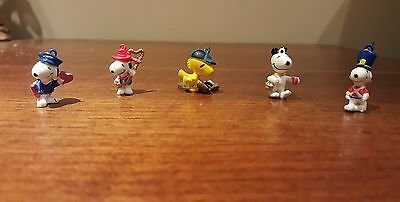 *RARE 1950's Peanuts Snoopy Woodstock Collectibles - Lot of 5 PVC figures