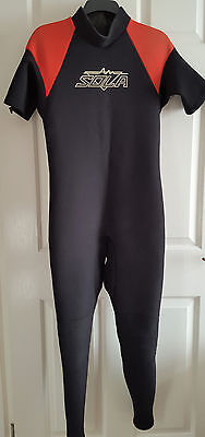 Mens Warm Full Length Sola Wetsuit Size Ml Chest 39-41 Inches