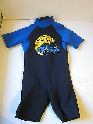 Youth Stearns Wetsuit Size Small Black Blue Scuba