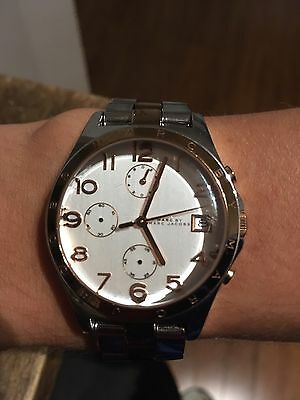 Marc Jacobs Women's Silver And Rose Gold Watch