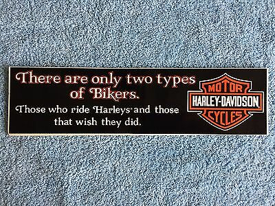 Harley Davidson decal bumper sticker 2 types of bikers