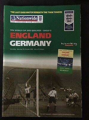England v. Germany World Cup Qualifier 2000