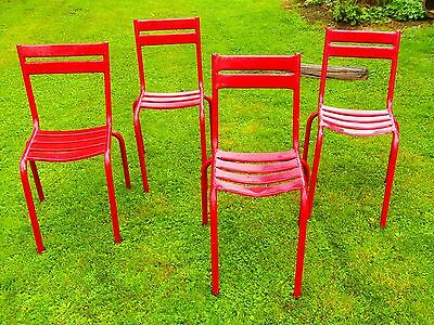 LOT de 4 CHAISES BISTROT en FER , CAFE , ESTAMINET