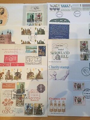 GB FDC x10, 1975-81, All Special Pmk (1)