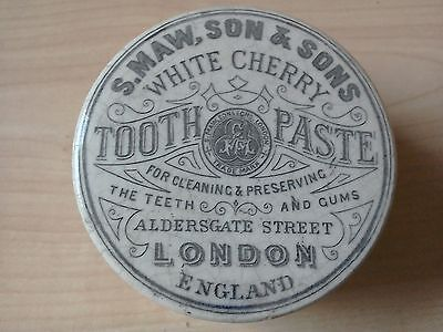 S.maw, Son & Sons White Cherry Tooth Paste Pot Lid & Base.