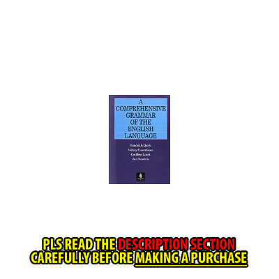 FAST SHIP: A COMPREHENSIVE GRAMMAR OF THE ENGLISH LANG 1E by GEOFFREY L