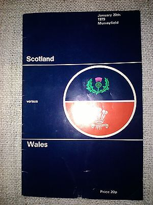 Scotland V Wales Programme. Five Nations 20/1/79