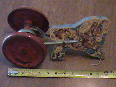 Vintage Gong Bell Pull Toy Horse