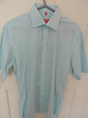 "BLUE DESIGNER ETERNA EXCELLENT REDLINE DRESS SHIRT 39"" Chest / 15.5"" Collar"