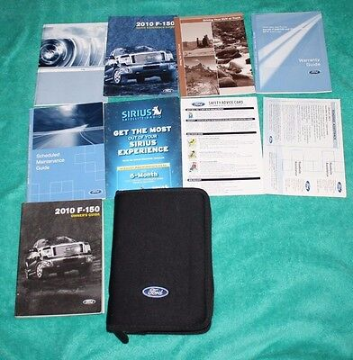 2010 Ford F-150 Owners Manual King Ranch Limited Lariat Xlt Fx4 Xl Fx2 4X4 2Wd