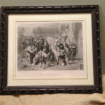 Framed 1876 Shakespeare Print ~ As You Like It ~ The Seven Ages Of Man