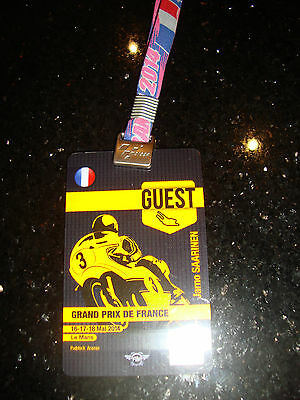 Official Moto Gp Full Access Paddock Pass - French 2014