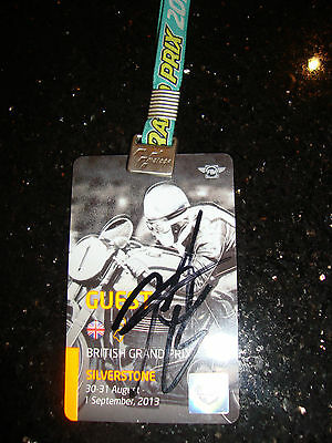 Official Moto Gp Full Access Paddock Pass - British 2010 - Signed By Hayden