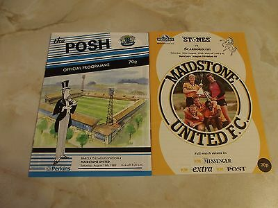 MAIDSTONE UNITED FIRST HOME and AWAY GAMES IN FOOTBALL LEAGUE SEASON 1989-90
