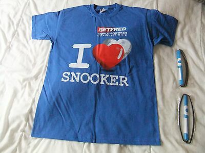 World Snooker Championships Medium Tshirt and two banners